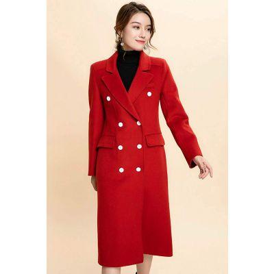 开服装店货源哪里拿宝莱国际加厚双面羊绒呢大衣女