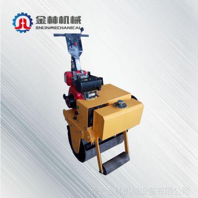 厂家直销手扶式单轮压路机 金林机械手扶式小型压路机