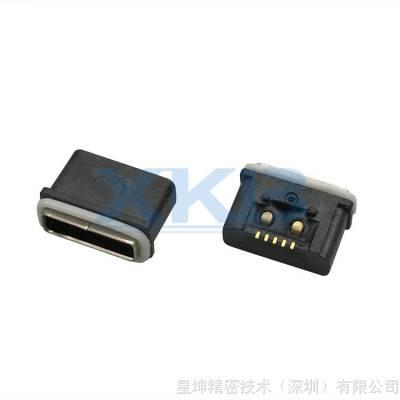 防水MICROUSB 5P AB型母座 贴片式 贴板插座 手机连接器 防水接口