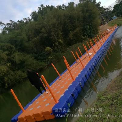 广东厂家吹塑加工生产50*50*40cm 抗风浪防冻海上浮筒浮桥 塑料浮箱码头K