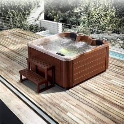江苏南京奕华卫浴1840X1840X800mm豪华恒温加热水疗池成人3人家庭智能SPA冲浪按摩浴缸