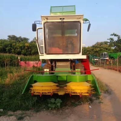 高效率双转盘玉米秸秆收割机 青贮收获机 大型青贮机