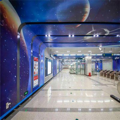 供应北京高铁站背景墙3D打印彩绘铝单板喷绘高清印花铝单板