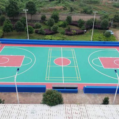 新国标环保塑胶丙烯酸球场/优质彩色塑胶球场材料/大型塑胶球场材料生产厂家/运动球场专用