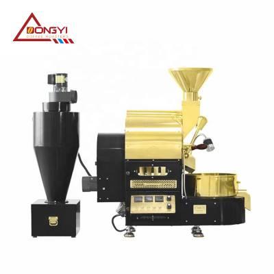 2公斤咖啡烘焙机产量 怎样控制咖啡豆烘焙机放豆量 烘烤均匀不糊锅的咖啡烘焙机 南阳东亿