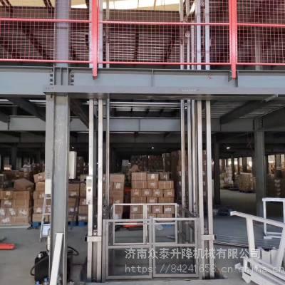 航天 导轨式升降货梯 室外3层运货升降机 2吨工厂货梯 量身定制