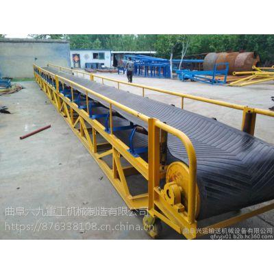 石英砂皮带传送机 12米长圆管装车皮带机六九重工