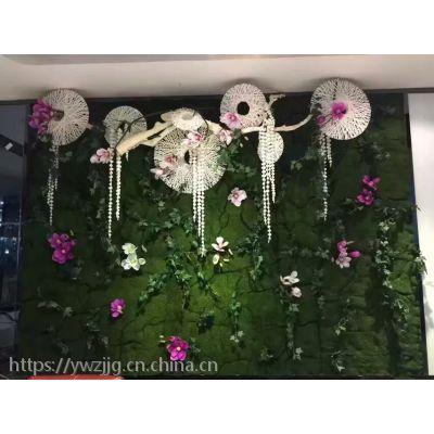 仿真绿植墙商场绿植墙餐厅植物墙户外草坪墙批发制作