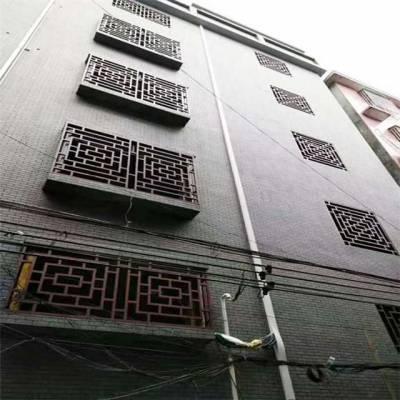 美丽乡村项目木纹铝格栅 中式铝格栅定做厂家