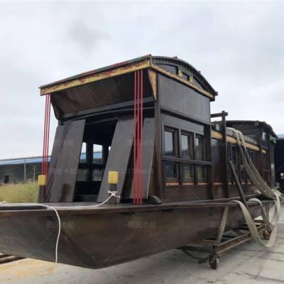 河南焦作木船厂家定制8米南湖红船