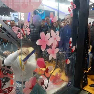 西安玻璃贴纸定制不翘边可移无残胶店铺装饰玻璃贴多少钱一平米