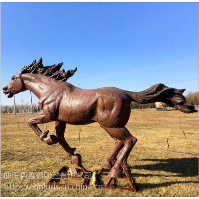 户外园林景观工程 大型园林雕塑 铜马雕塑黄铜铸造