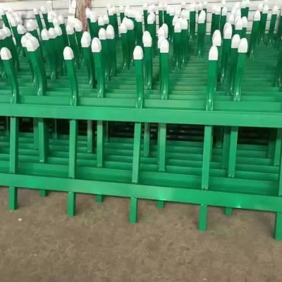 定制锌钢草坪护栏 小区绿化隔离防护栏 防折弯 耐日晒颜色多样可选 规格尺寸定制