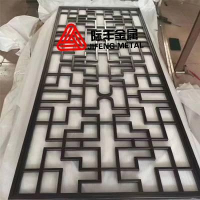 新中式不锈钢屏风定制 金属非实木不锈钢屏风厂家