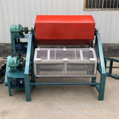 兴文来图定制双滚筒物料磨料自动分离抛光机铁件去油锈六角滚筒抛光机