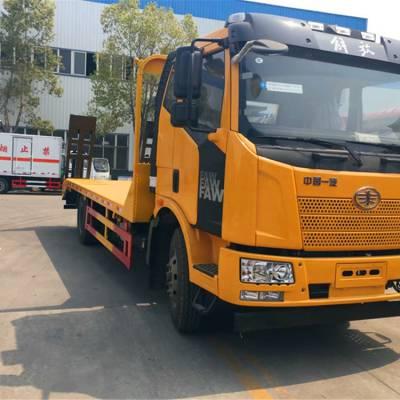 可拉150挖机平板拖车单桥挖机拖车厂家直销4.0L排量