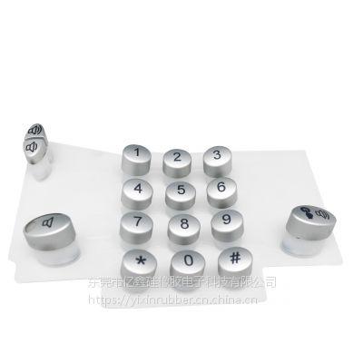 P+R按键 塑胶喷涂镭雕+硅胶按键 多功能电话机P+R键盘