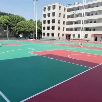 辉跃体育(图)-硅PU篮球场施工合同-九江硅PU