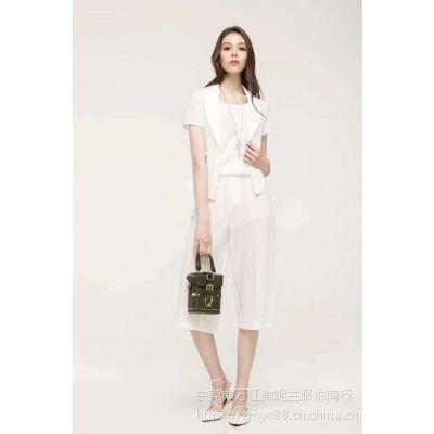 东莞供应上海三弗国际一线品牌淑女红色连衣裙现货均码