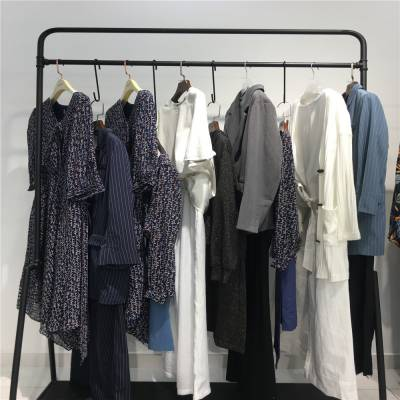品牌折扣女装尾货批发 可爱媛 雪纺上衣2019新款雪纺衬衫 杭州品牌