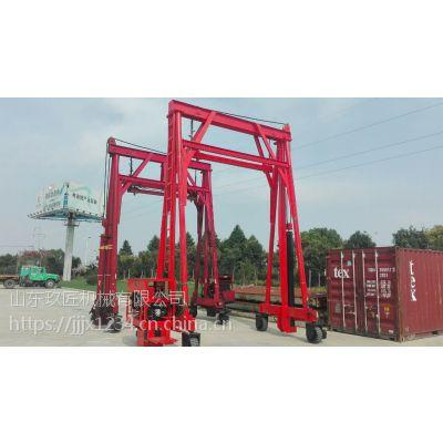 集装箱吊具通用夹具翻转机液压卸车平台20英尺40英尺集装箱吊具