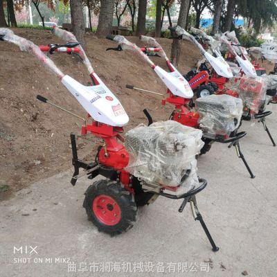 半自动手推式小型土地耕整旋耕机 菜地种植犁地机 澜海热销