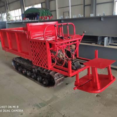 厂家直销手扶式履带运输车 农用机械砂石树木液压自卸拖拉机