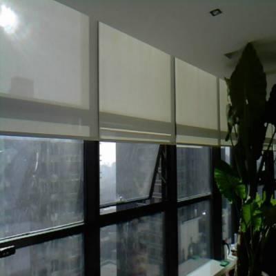 专业办公楼大厦遮阳窗帘办公卷帘电动布艺窗帘百叶窗