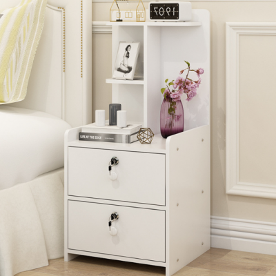 厂家批发简约现代经济小户型卧室储物北欧带锁简易收纳床头柜组装