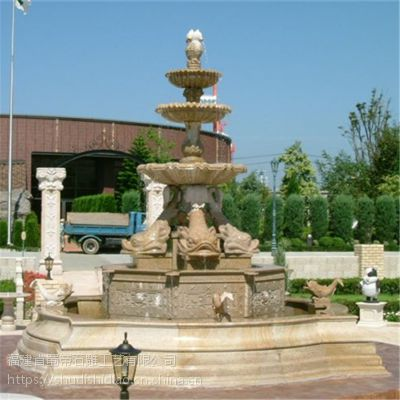 石雕花岗岩大型喷泉流水摆件 户外广场小区石雕喷泉加工定做