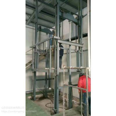 横山县直销液压电梯 液压升降台 导轨液压货梯 启运工业升降机定制
