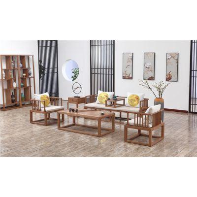 山东木言木语实木沙发厂家 品牌黄菠萝实木家具工厂直销