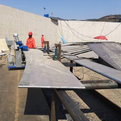 亳州弯型钢板开坡口机GMMA-100L大功率厚板铣45度坡口铣边机