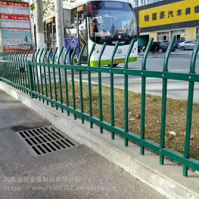 城市道路批发 马路中间锌钢交通护栏隔离栏杆 定做市区道路景观护栏