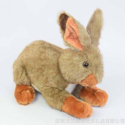 厂家直销定制款仿真兔子公仔 车饰品毛绒玩具 送同学生日礼物玩偶