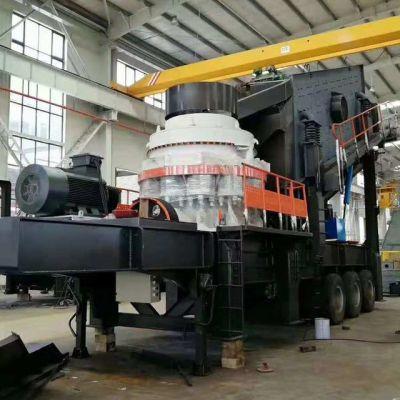 移动式制砂机 人工砂石料生产线 恒冉牌石头碎石机 移动破碎工作站