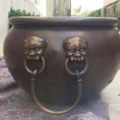 山西铜大缸-1.8米铜大缸-整体铸造铜缸(优质商家)