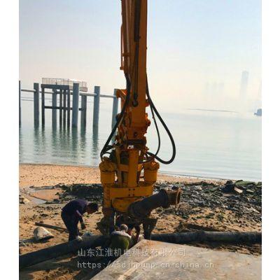 挖机耐磨混浆泵 堤坝专用挖掘机抽鹅卵石泵厂家直供 江淮泵业