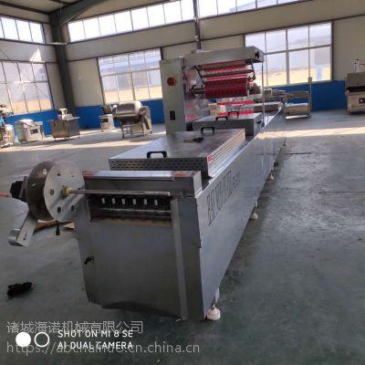 全自动拉伸膜真空包装机 上下覆膜真空封口设备 海诺生产