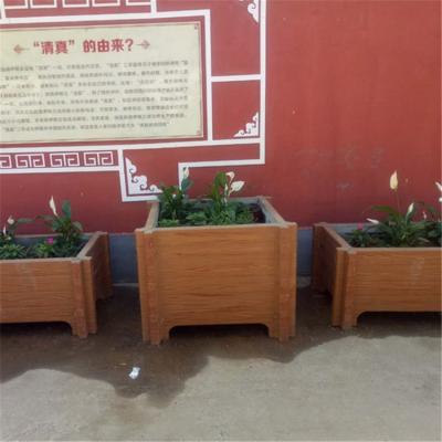 定制公园景区专用景观装饰水泥仿木花箱花桶花池