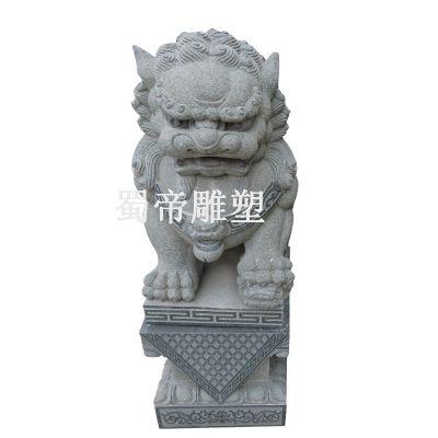 仿古石雕狮子、花岗岩石雕狮子、石狮子加工厂、石雕狮子工艺品、石雕狮子定做