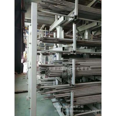 山东重型悬臂式货架 新型伸缩双悬臂货架规格 10米钢材存储 存取方便