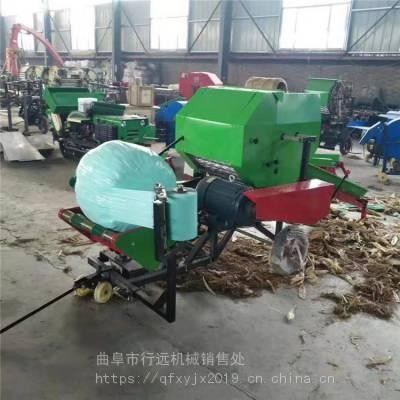 农作物秸秆粉碎打捆机 青贮秸秆饲料打捆包膜机 圆捆包膜机价格