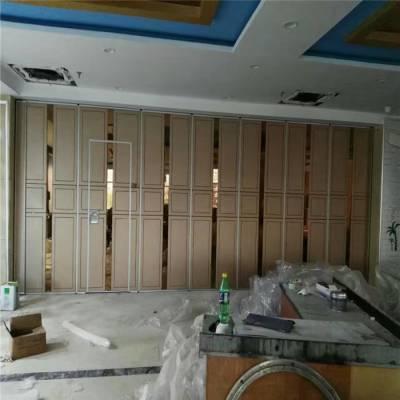深圳酒楼屏风活动隔断定做重型推拉折叠门厂家供应