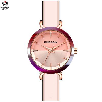 鑫柏琴广东制表厂促销树脂颜色多时尚优雅女石英手表礼物