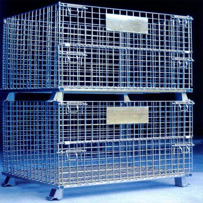 鹏诺仓储笼厂家现货销售 折叠仓储笼 不锈钢仓储笼 不锈钢丝仓储笼