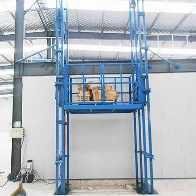 佳木斯市导轨升降货梯 定制厂房导轨式升降机 液压式升降平台