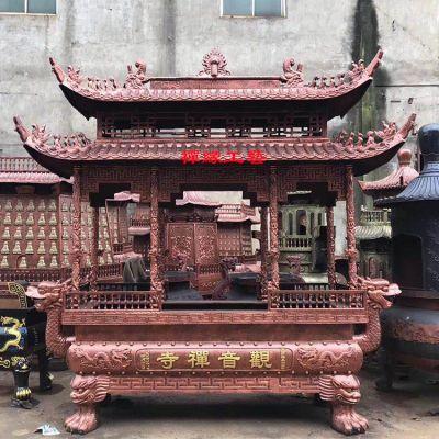 厂家直销念佛堂庙堂铸铁香炉/大型长方形带盖香炉定做
