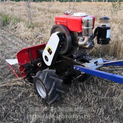 手扶自走式芝麻玉米收割机 高效率割晒机
