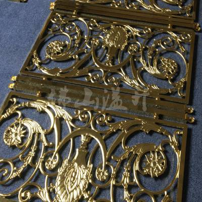 河南***装饰品铝板雕刻铝艺护栏定做价格好